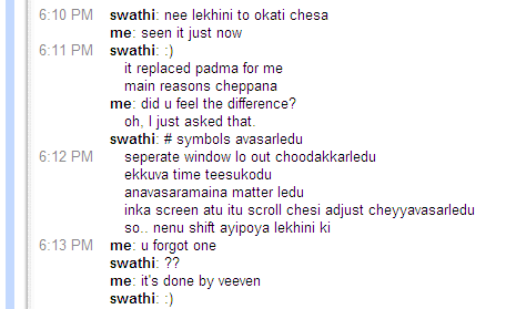 Chat about Lekhini