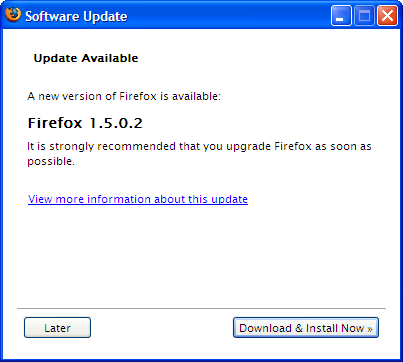 Firefox 1.5.0.2 available