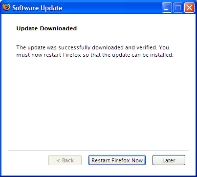 Firefox 1.5.0.2 downloaded & ready to be installed