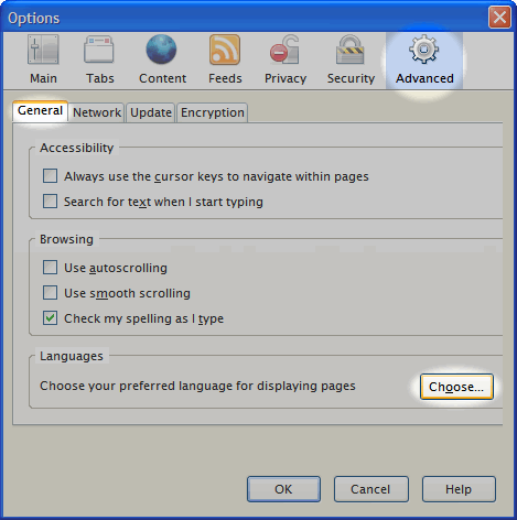 Firefox Advanced Options